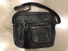 Dior Deville FW07 Black Leather Messenger Bag
