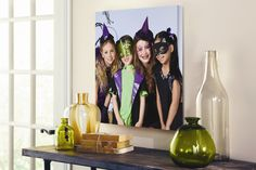 Turn photos from last year's #Halloween celebrations into this year's decorations by making a #customized #canvas.