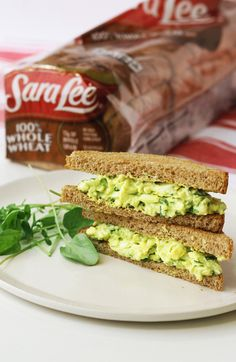 Sara Lee Bread Avocado Egg Salad Sandwich. Give your egg salad a tasty makeover when you add avocado and watercress.