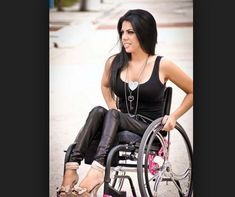 Alexandra Santibanez. Paraplegic since the age of 5, fashion model from Miami. >>> See it. Believe it. Do it. Watch thousands of SCI videos at SPINALpedia.com