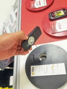 The first Boomerang still being used at a Rogers Wireless display in Canada