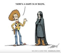There's a Snape in my boots
