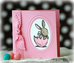 Love the idea! Could be a baby card too! Sweet!