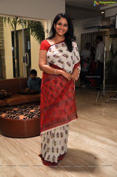 Check Out Exclusive Photos of Telugu TV Anchor, Telugu Cinema Character Artist Gayatri Bhargavi in Saree. Nayanthara Hairstyle, Telugu Cinema, Actress Photos, Sari, Actresses, Indian, Skirts, Beautiful, Women