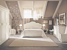 Grey pallete attic bedroom - Interior designs for your home Attic Bedroom Designs, Attic Bedrooms, Shabby Chic Bedrooms, Home Decor Bedroom, Bedroom Ideas, Girl Bedrooms, Master Bedroom, Bedroom Themes, Bedroom Inspiration
