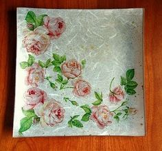 platos decoupage Decoupage Plates, Decoupage Ideas, Decorative Napkins, Collage, Bottle Art, Diy And Crafts, Projects To Try, Country, Google