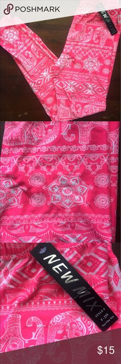 Pink Elephant Leggings These are NOT LuLaRoe, but they feel the same! They just have a different waist band (it's not Yoga style). These are just as comfortable and soft as LLR. I loved this pattern so much I accidentally bought 2! Adorable bright pink and white elephants! 😍 Pants Leggings