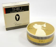 Tabu Dusting Powder Vintage Sealed in the Box 4.25 oz Dana New York 12122 by QueeniesCollectibles on Etsy