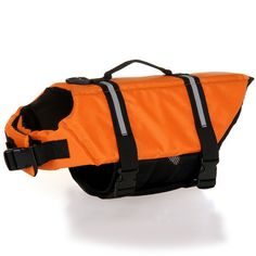 Dog Life Jacket- Adjustable and Quick Release cat Life Jacket Vest with Rescue Handle and Reflective Accents Dog Life Preserver Small, Medium, Large >> You can get more details here : Cat Apparel