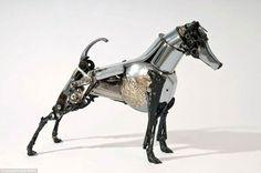 Скульптуры из металлолома от Джеймса Корбетта скульптура, длиннопост, металлолом, запчасти, крафт, животные