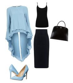 """Untitled #28"" by enaleille on Polyvore featuring Antonio Berardi, 10 Crosby Derek Lam, M&Co, Penny Loves Kenny and Hermès"