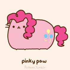 Pusheen as pinkie paw (MLP: FiM)