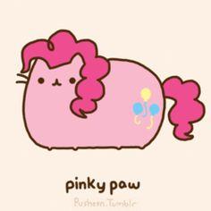 Pusheen as pinkie paw (MLP: FiM)