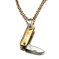 Gold Plated Dagger Necklace --any guy would love to have..and me too!