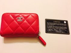 Auth. Chanel Pink Wallet O Coin Metlasse A69271 Case Leather Wallet Purs17687050  | eBay