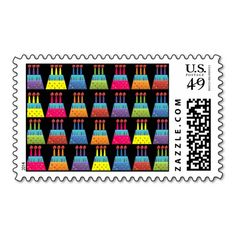 Shop BonBon Party Rainbow Birthday Cakes Stamp created by BonBon_Party. Rainbow Birthday, Wedding Invitation Design, Postage Stamps, Best Gifts, Birthday Cakes, Party, Prints, How To Make, Board
