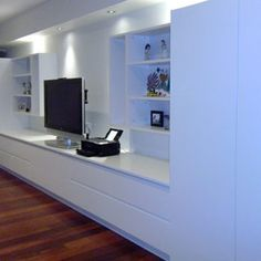 Media Wall Unit, Hideaway Desk, Cabinetry, Storage Cupboards Project in Lane Cove, Sydney - Spaceworks