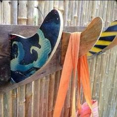 Surfboard Fin Hook Rack by CoastalReLife on Etsy