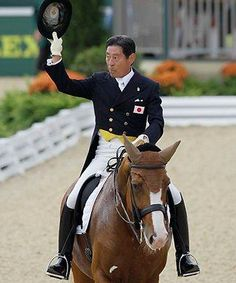 Oldest Olympic Equestrian... so far. Will compete for Japan in the London Olympics at the age of 72.