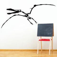 PTERODACTYL DINOSAUR SKELETON vinyl wall art sticker boys bedroom | eBay