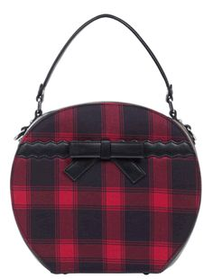 23d5536f034e This red tartan purse made in the shape of a vintage hat box! Vintage Hat