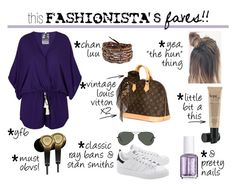 This Fashionista's Faves by istyled on Polyvore featuring polyvore, fashion, style, Young, Fabulous & Broke, adidas Originals, Louis Vuitton, Chan Luu, Ray-Ban, philosophy, B&O Play, women's clothing, women's fashion, women, female, woman, misses and juniors