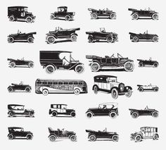 CARS FREE VINTAGE VECTOR PRINTABLE | http://www.freevintagevectors.com/2015/08/cars.html