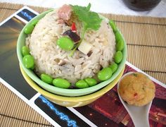 This is another easy recipe. Just throw all the ingredients in the rice cooker and you will have your wonderful bowl of rice within 20 minu. Vegan Vegetarian, Vegetarian Recipes, Bamboo Shoots, Rice Bowls, Cooker, Thanksgiving Holiday, Christmas, Easy Meals, Modern