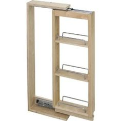 """Amazon.com: Wall Cabinet Filler Pullout- 3"""" Wide x 11-1/8"""" Deep x 30"""" Tall: Home Improvement Pullout for left of stove, shallow cabinet, lower for 3"""" gap"""