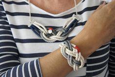 Ideas para hacer tus complementos estilo Navy o marinero. El estilo marinero lo relacionamos también con algunos diseñadores. Está muy presente en la imagen de Coco Chanel, y especialmente en la de Jean Paul Gaultier.
