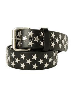 Black Star Grommet Belt   Hot Topic