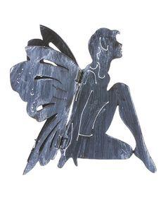 Silver Garden Fairy Silhouette Statue #zulily #zulilyfinds