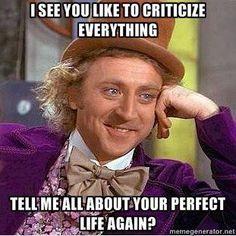 I see you like to criticize everything