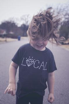Locals are always RAD. Made on American Apparel Tri-blend black tee.