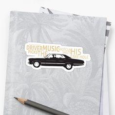 House Rules Sammy, Driver Picks the Music, Shotgun Shuts His Pie Hole Sticker