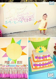 You Are My Sunshine birthday party ideas...so fun!