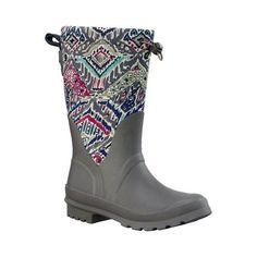 Sakroots Women's Mezzo Rain Boot, Size: 10 M, Slate Brave Beauti