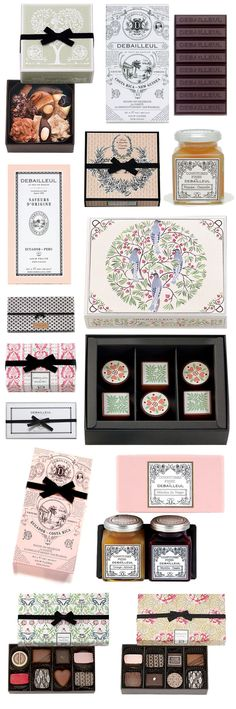 Debailleul Graphics Illustration, Packaging chocolate, confection, feminine, food, france, illustration, package, pattern