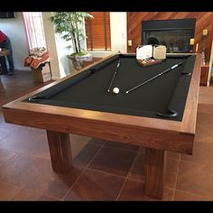 Mid Century Modern Pool Table By MITCHELL Pool Tables Basement - Mid century modern pool table