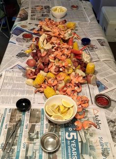Low Country Boil ~ Delectameals ~ Perfect for big get togethers and a little more exciting than a regular cookout! Crab legs, shrimp, sausage and potatoes- something for everyone! On the table in 30 minutes.