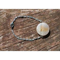 Bracelet argenté Agate veinée
