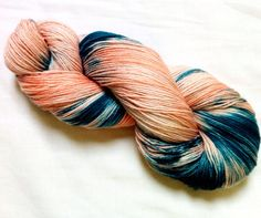 Love this color combo!! •• MEDUSA - Superwash Merino 4-Ply Fingering/Sock Yarn. (Approx. 100g : 410y) on Etsy, $20.23