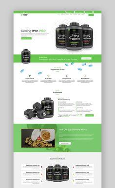VIGO landing page template Landing Page Examples, Landing Page Design, Product Landing Page, Page Template, Website Template, Templates, Landing Page Inspiration, Web Design Inspiration, Medical Websites
