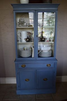 Lilacs and Longhorns: China Hutch Fix-up with Annie Sloan