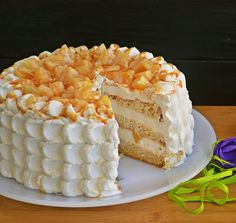 Cake with Pineapple and Caramel. Cake with pineapple and caramel (in Romanian) Frosting Recipes, Pie Recipes, Dessert Recipes, Cooking Recipes, Desserts, Recipies, Cake Base Recipe, Caramel, Pineapple Cake