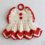 Vintage Fashion Potholders Crochet Pattern - PB083  http://www.MaggiesCrochet.com
