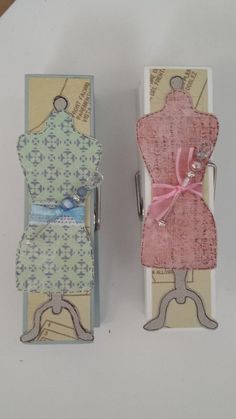 Sewing Dress Form Extra Large Clothespin Photo/Note Holders
