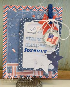 Seabrook Designs: Red, White and Blue #pebblesinc