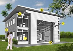 Steel Container Homes   ... are some examples of materials used in our homes (Seto 3580 shown