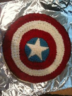 Captain America Cake  By dusk169 on CakeCentral.com